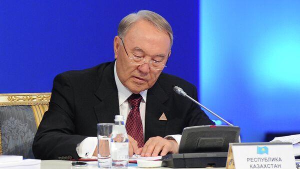 Президент Казахстана Нурсултан Назарбаев, архивное фото