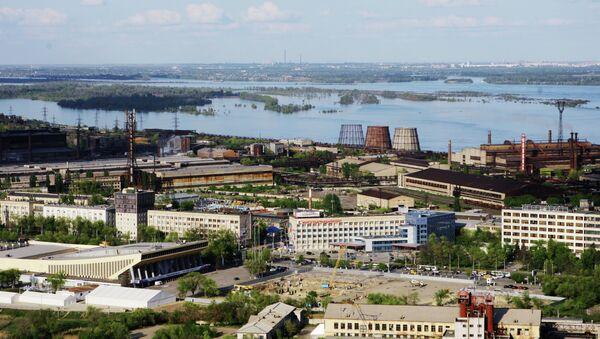 Вид на металлургический завод Красный октябрь. Архивное фото