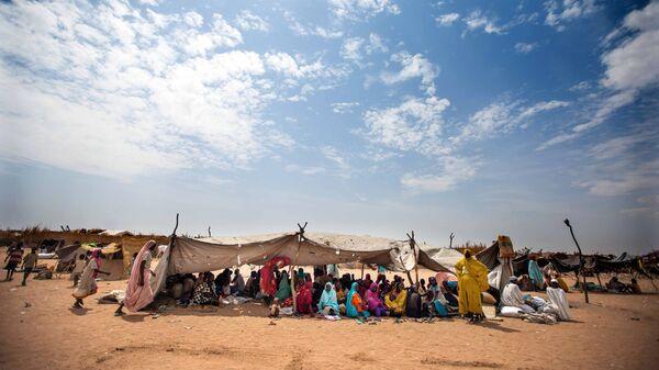 Лагерь для беженцев вблизи города Ньяла, Судан