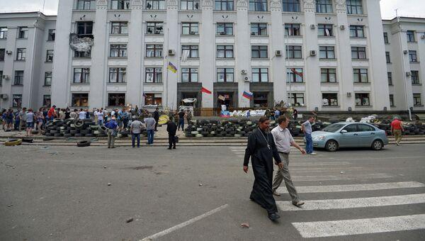 Ситуация в Луганске. Архивное фото