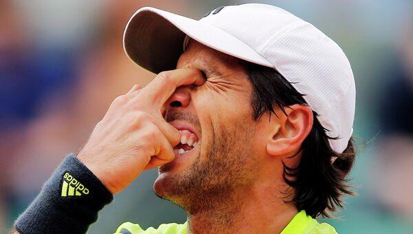 Испанский теннисист Фернандо Вердаско на Открытом чемпионате Франции по теннису. Архивное фото