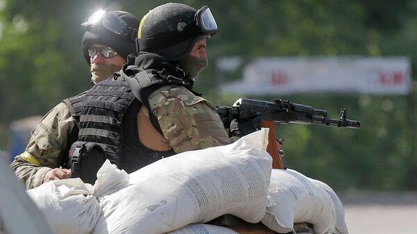 Украинские силовики на блокпосту