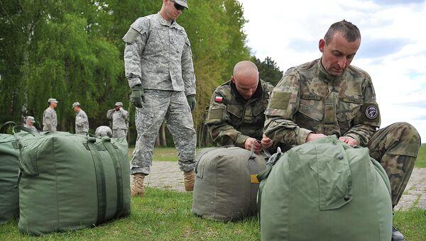 Совместные учения войск США и Польши, архивное фото