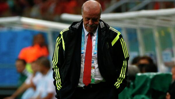 Тренер сборной Испании по футболу Висенте дель Боске