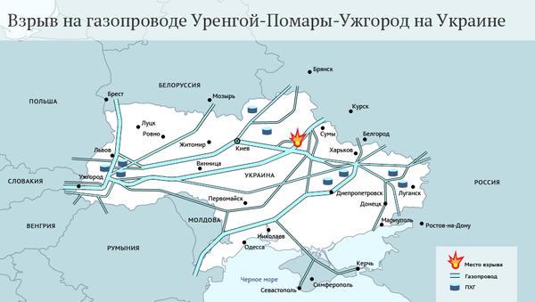 Взрыв на газопроводе Уренгой-Помары-Ужгород