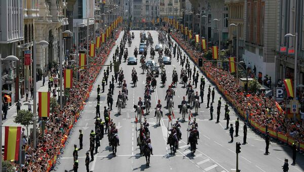 Парад, посвященный церемонии коронации короля Испании Фелипе VI. Архивное фото