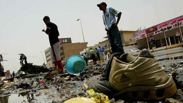 Последствия взрыва в Багдаде в 2007 году