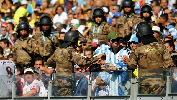 Бразильская полиция на ЧМ-2014