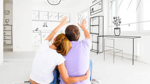 Семья в новой квартире. Архивное фото