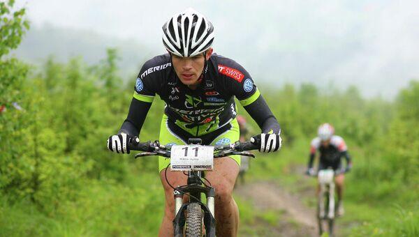 Российский велогонщик Алексей Пичугин