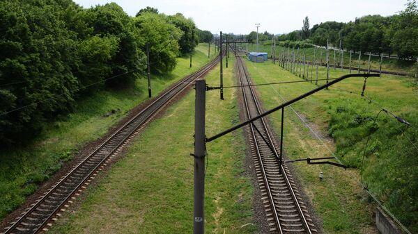 Железная дорога в Донецке. Архивное фото