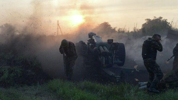 Работа артиллерии Украинской армии. Архивное фото