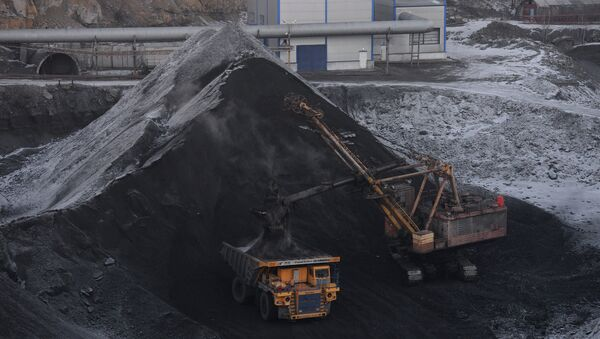 Угольная шахта открытого типа