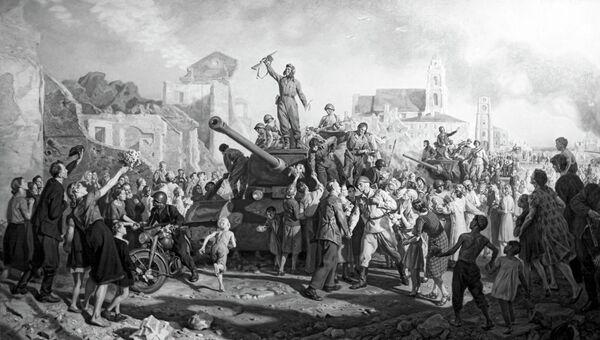 Картина Минск 3 июля 1944 года художника Валентина Волкова