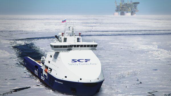 Вспомогательное судно, принадлежащее компании Совкомфлот. Архивное фото