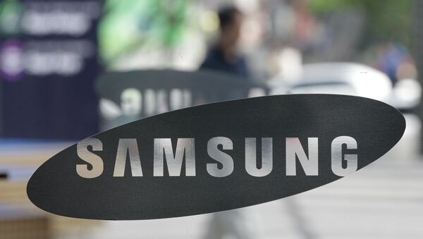 Логотип компании Samsung. Архивное фото
