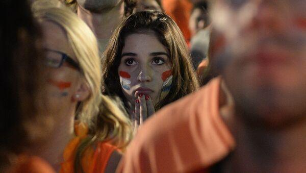 Болельщица сборной Нидерландов