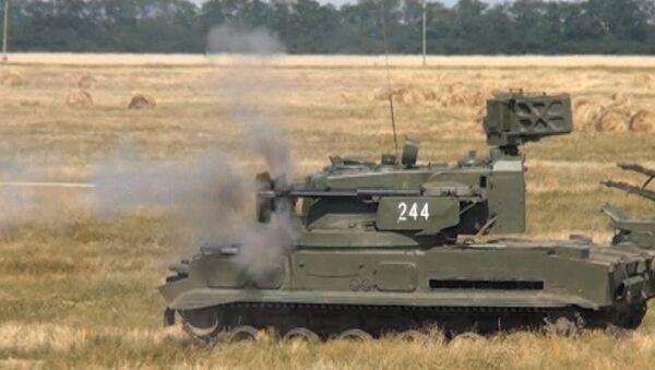 Стрельба из Тунгуски и Иглы - военные учения под Краснодаром