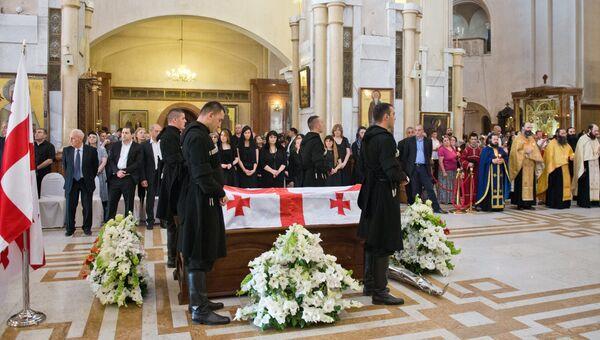 Церемония прощания с бывшим президентом Грузии Эдуардом Шеварднадзе