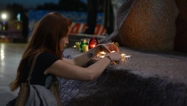 В Киеве почтили память погибших в московском метро