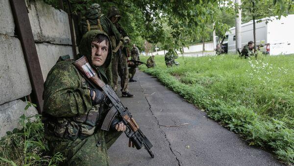 Бойцы ополчения в Донецке. Архивное фото