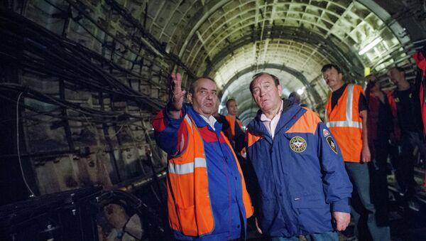 Сергей Собянин проинспектировал ход восстановительных работ на месте аварии в метро. Архивное фото