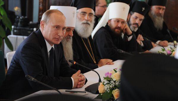 В.Путин принимает участие в мероприятиях к 700-летию со дня рождения Сергия Радонежского