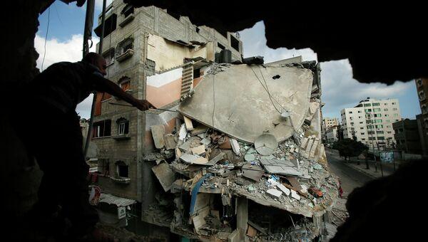 Разрушения в Секторе Газа в результате израильской военной операции, Архивное фото.