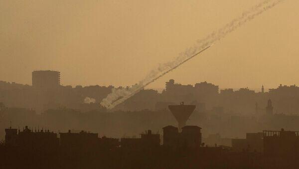 Ракета, выпущенная с территории сектора Газа в сторону Израиля