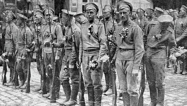 Русские солдаты во Франции в 1916 году