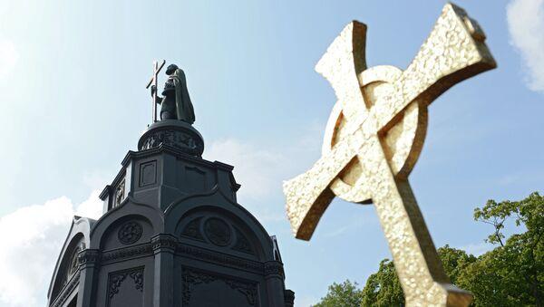 Памятник князю Владимиру. Архивное фото