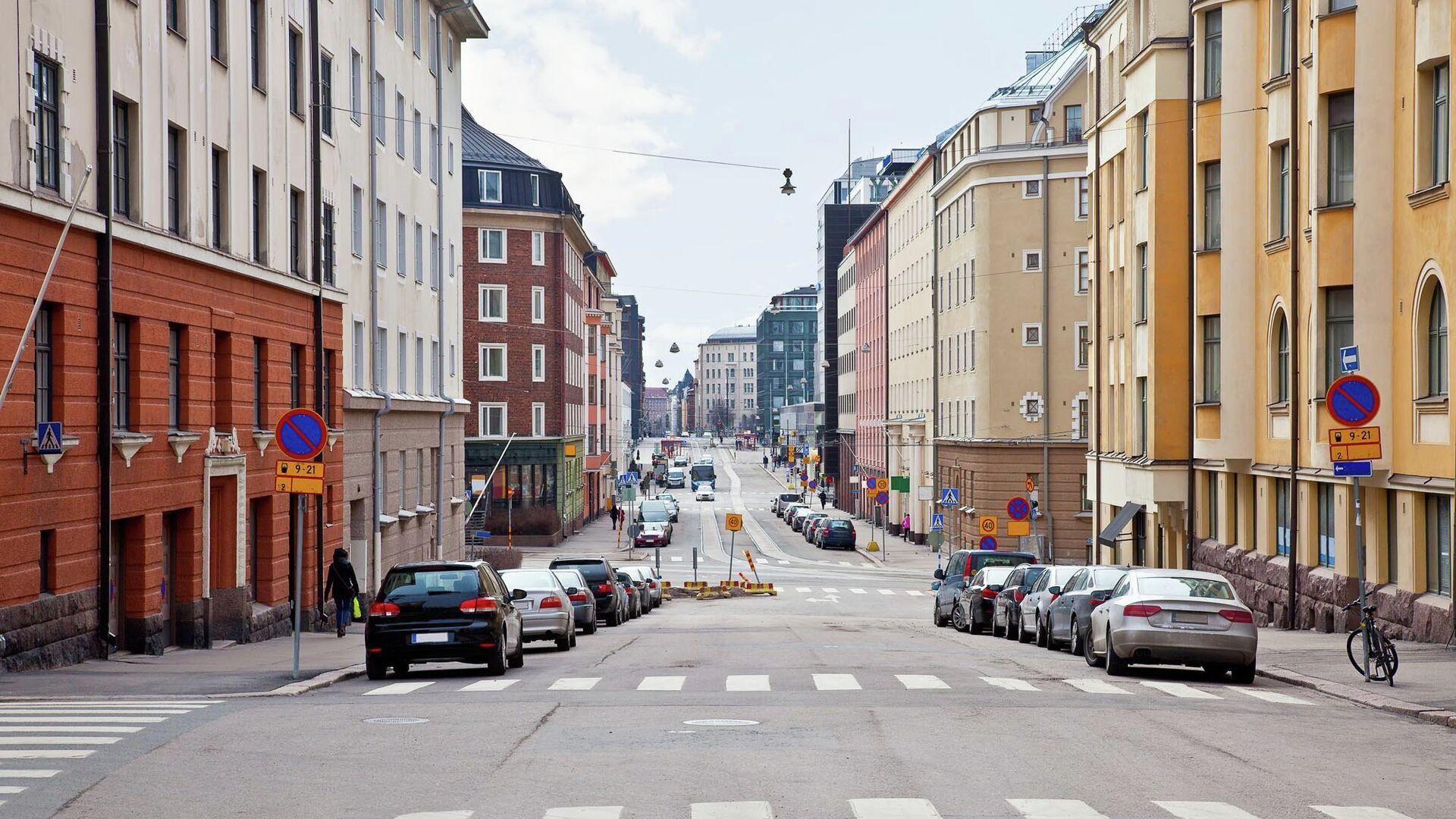 На одной из улиц в Хельсинки  - РИА Новости, 1920, 30.11.2020