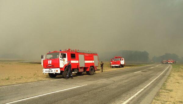 Пожарные машины на Украине, архивное фото