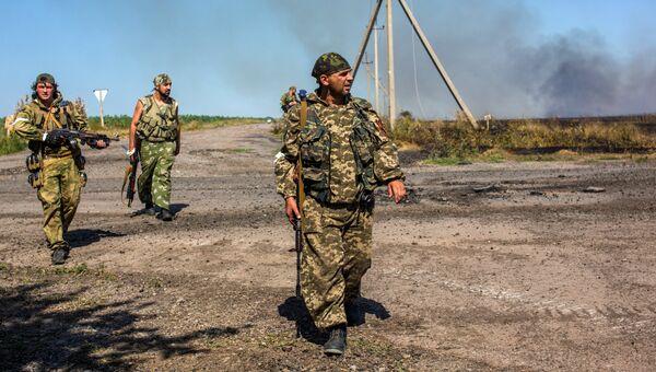 Бойцы народного ополчения в Донецкой области. Архивное фото