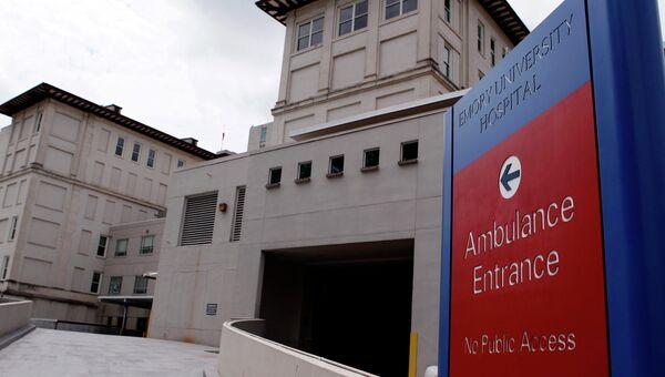 Больница университета Эмори в США, куда доставили заразившегося вирусом Эбола врача.