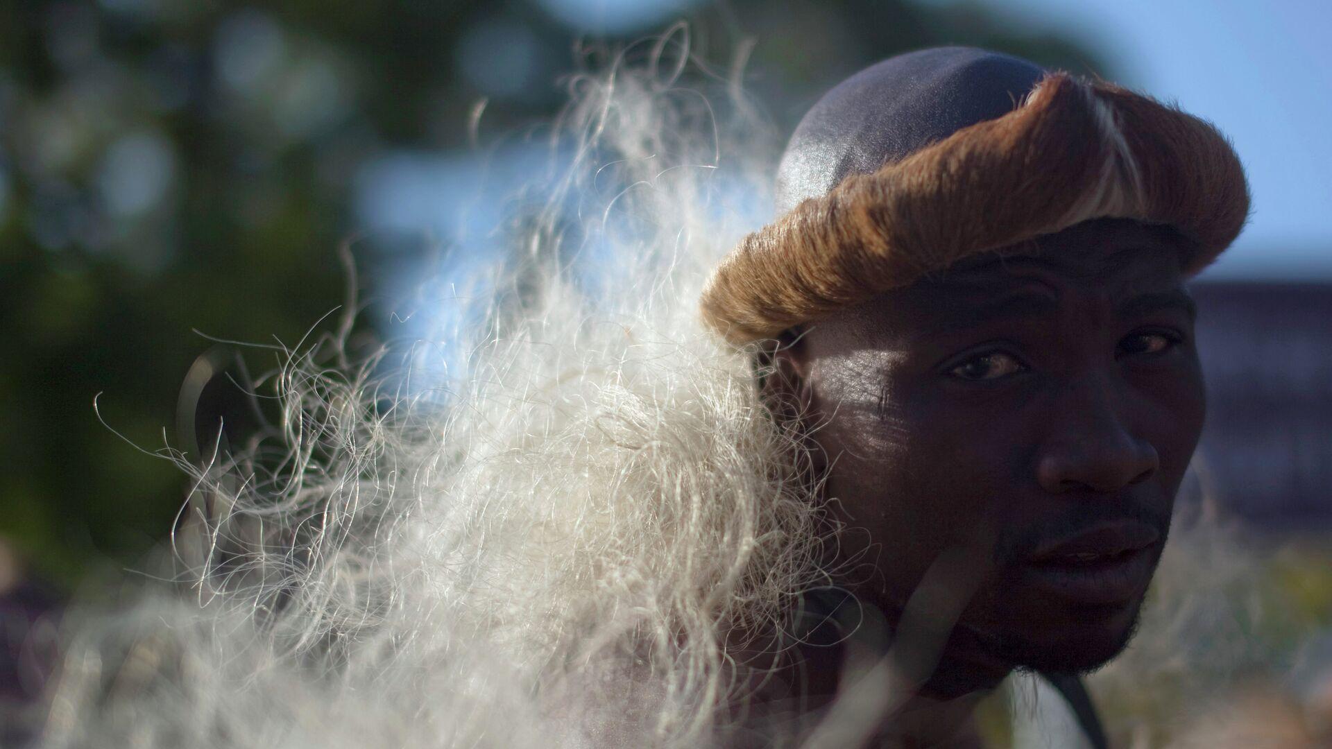 Представитель племени зулусов, Южная Африка - РИА Новости, 1920, 22.09.2020