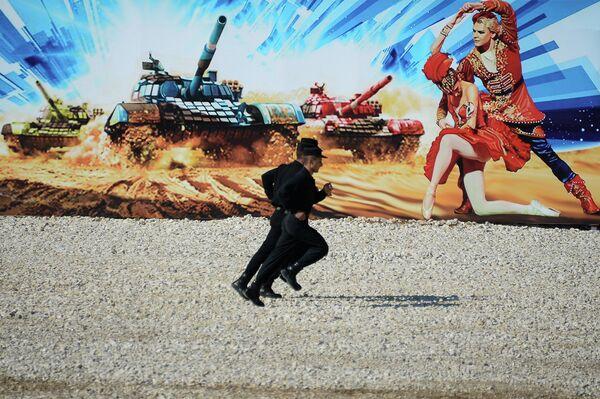 Танковый биатлон- 2014 . День первый