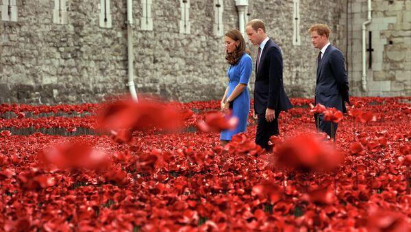 Герцог и герцогиня Кембриджские Уильям и Кэтрин и принц Уэльский Гарри. Архивное фото