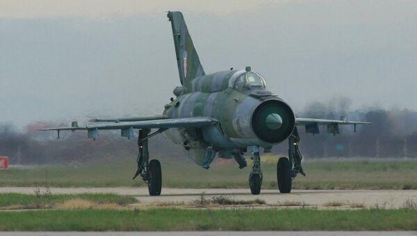 Истребитель МиГ-21 ВВС Хорватии. Архивное фото