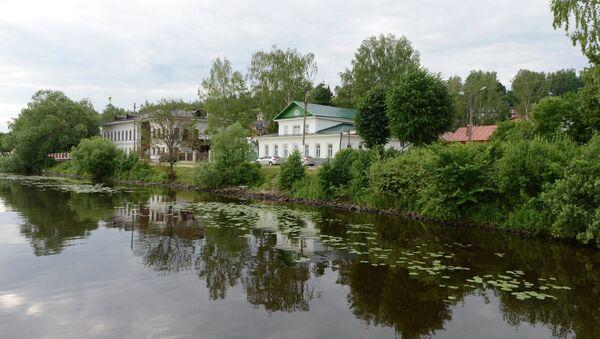 Вид на дом-музей Исаака Левитана в городе Плес. Архивное фото