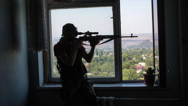 Бои за город в Донецкой области. Архивное фото
