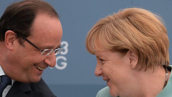 Олланд и Меркель. Архивное фото