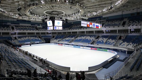 Вид на ледовую арену Дворца спорта Айсберг