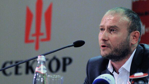 Кандидат в президенты Украины, лидер радикального движения Правый сектор Дмитрий Ярош. Архивное фото