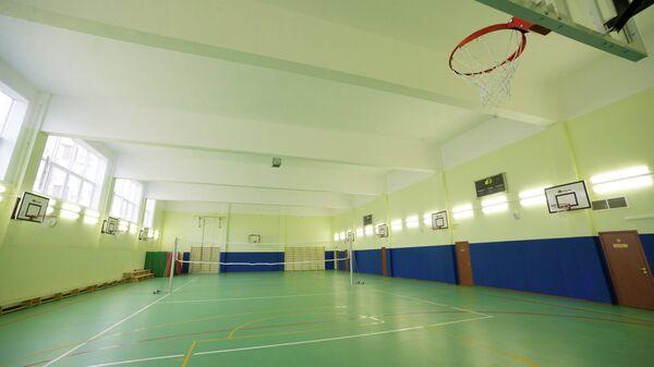 Спортзал в новой школе в Раменках