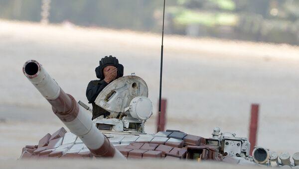Танковый биатлон- 2014. Гонка преследования. Архивное фото