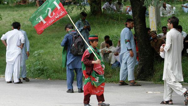 Сторонники партии Пакистан Техрик-е Инсаф (ПТИ). Архивное фото