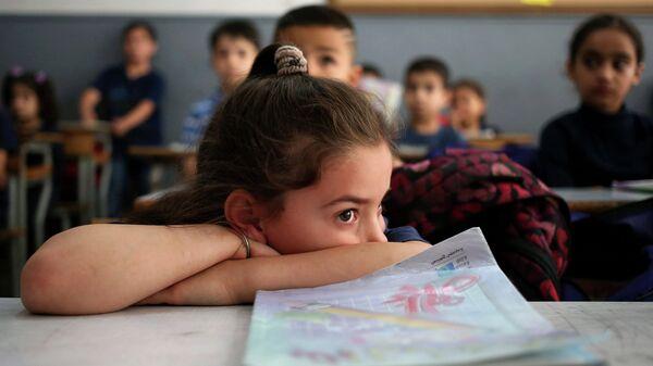 Сирийские школьники на занятиях
