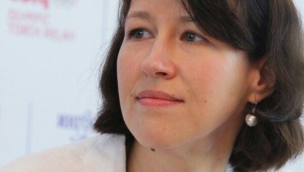 Директор благотворительного фонда Подари жизнь Екатерина Чистякова. Архив
