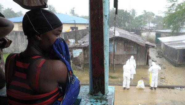 Медучереждение для больных лихорадкой Эбола в Либерии